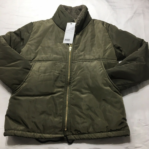 Justfashion now Jackets & Blazers - Just Fashion Now Army Green Jacket Large